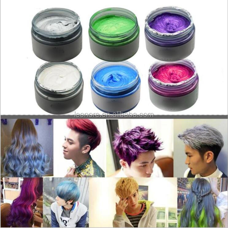 Unisex Fashion Granny silver grey hair semi-Permanent Hair  Color Cream