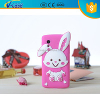 New arrival 3d cute animal silicone phone case for lg nexus 5