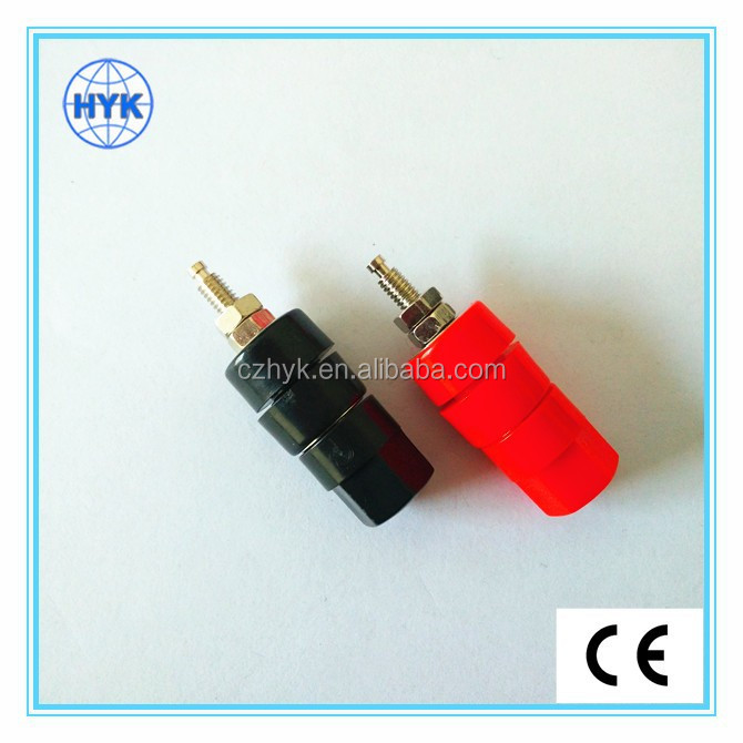 Binding post/banana jack speaker terminal panel socket/adaptor for safety protection plug