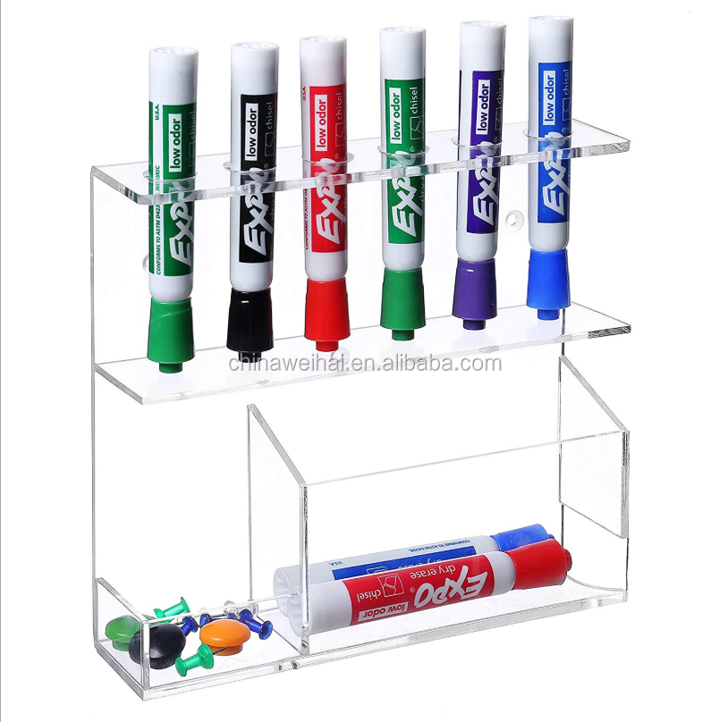 Clear Wall Mounted Acrylic Pen  Display Case