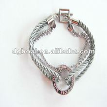 2012 new designs rope and chain engraved charm bracelet