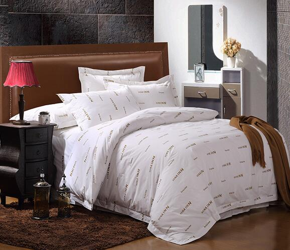 Luxury european jacquard 4pcs hotel bed linen for christmas