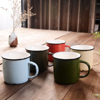 New Design Enamel Ceramic Tea Cup Creative Advertising Promotional Mugs