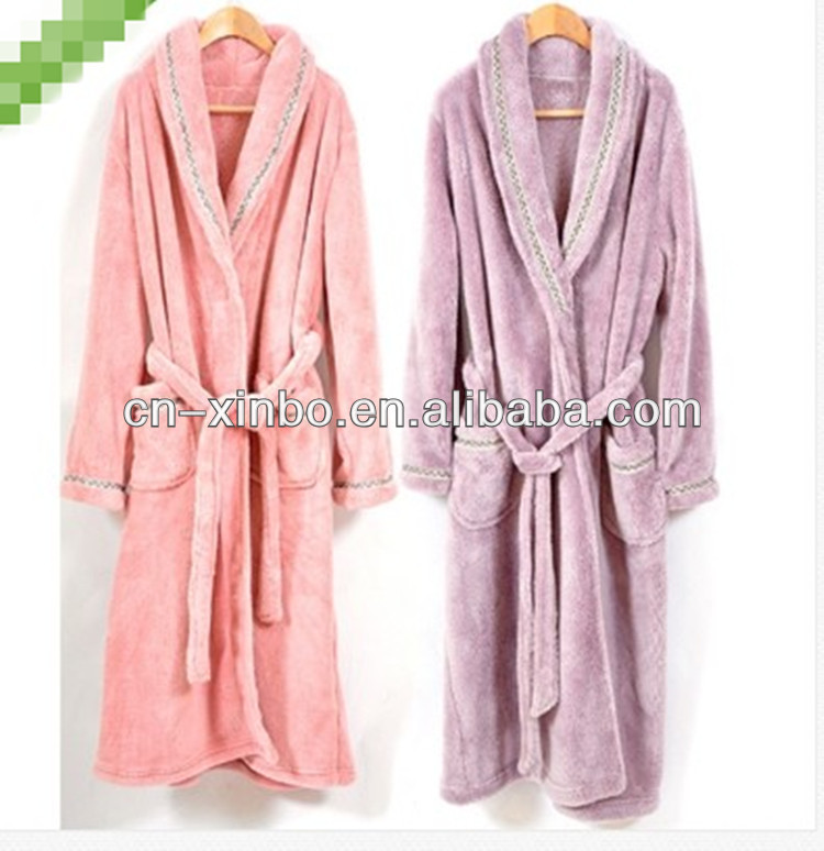 Coral Fleece Pajamas men and women type of lovers THICK Suit Gown Bath Robe