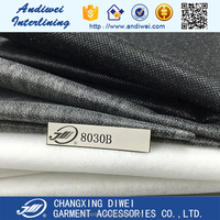 china manufacture polyester nonwoven water soluble interlining fabric