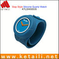 Wholesale waterproof slap watch china silicone watch supplier