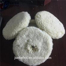 Hot selling 100% lambswool wool polishing pad with low price