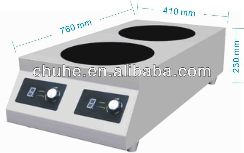 New design high quality low price 3500w electric induction stove with two burners