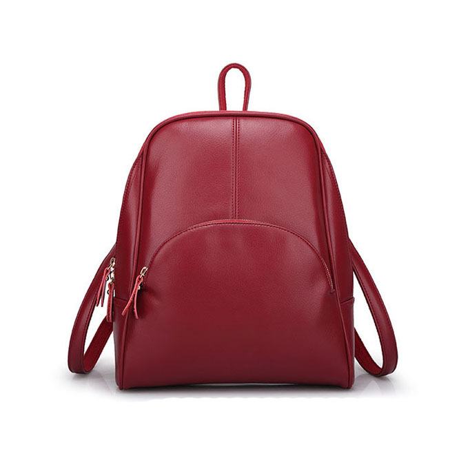 Buy Women Leather Backpack School Bags High Quality Casual Bags ...