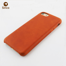 Smart phone universal real leather case snap on pc case for iphone 7