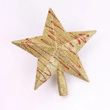 40cm plastic treetop star outdoor Christmas cake decorations