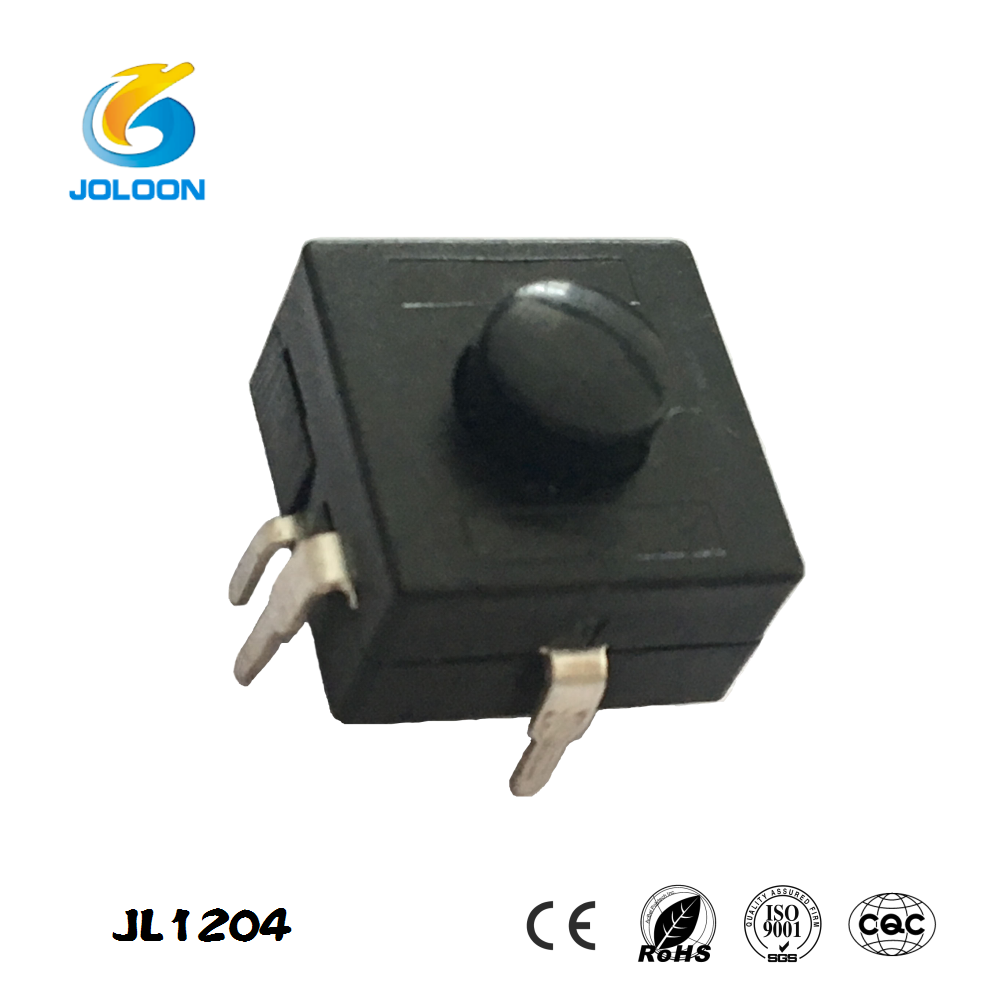 JL1204 flashlight push button on off switch with 4 pin