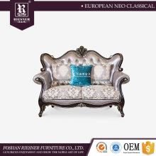 Graceful French Neo-Classical Two Seat Sofa for Villa and Hotel , Luxury fabric living room sofa