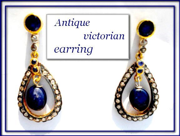 antique victorian rose cut earring