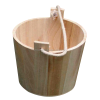 2016 Handmade and Durable watering pot or bucket with wood handle in various shapes and sizes for home