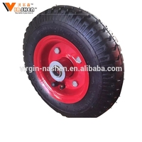 Solid rubber wheel barrow tyre small pneumatic tires and wheels