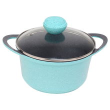 Hot sell non stick die casting aluminium cookware casserole pot set for electric heatig