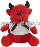 custom stuffed animals Direct Manufacturer logo stuffed red bull plush bull toy halloween bull
