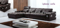 2013 new sound & audio & cow leather sofa A973#