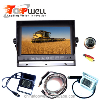 Rear View Backup System With 7 Inch HD Touch Button Digital Monitor And Waterproof Camera Kit