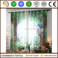 rabbit and tree house digital printed children curtain