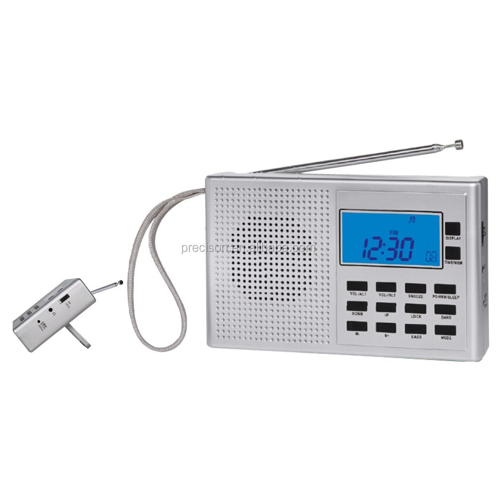Stylish FM/MW/SW(1-9) 11 Band world receiver, 400 memory stations 10 SDA daily alert, 5 count down timers,stop watch function