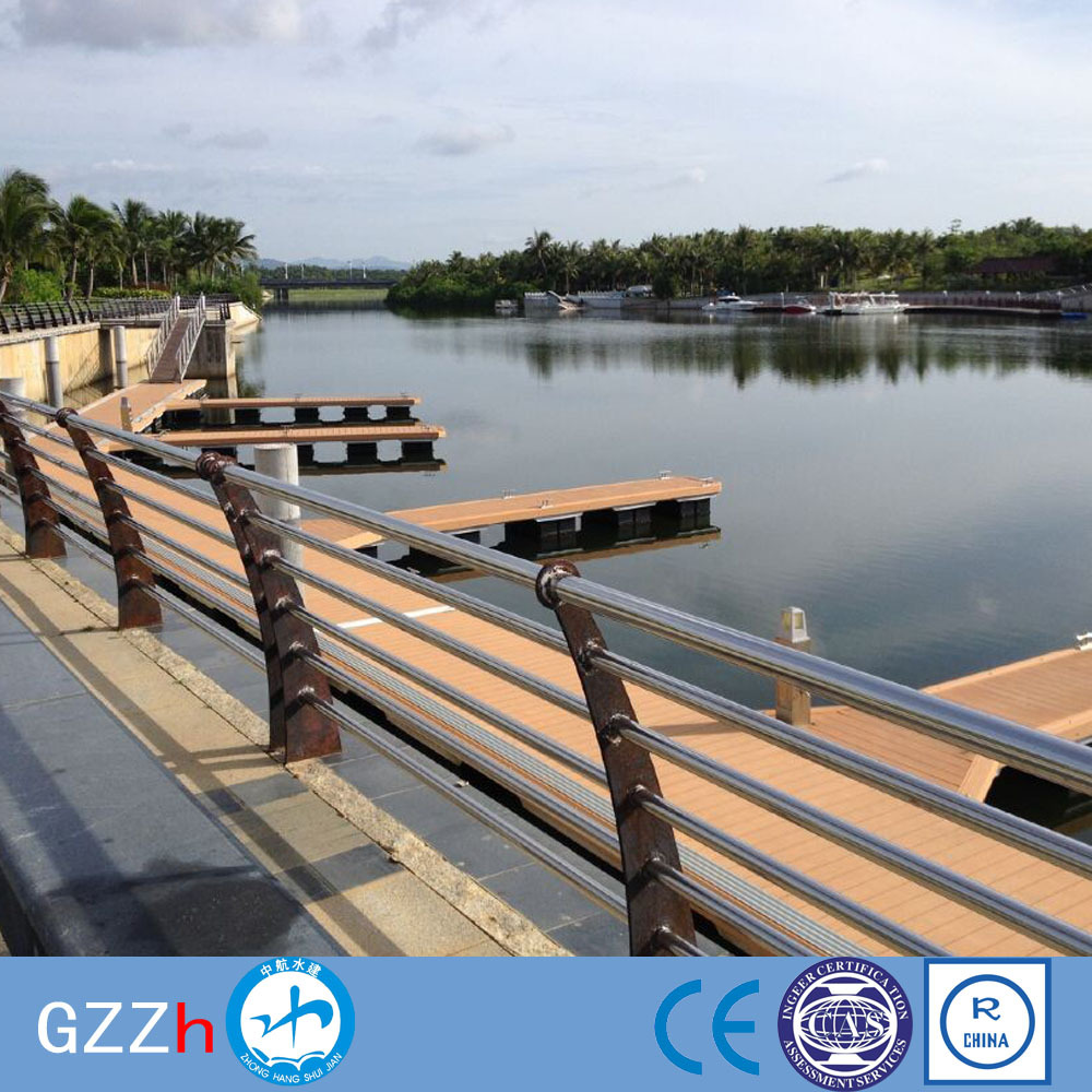 Galvanized steel berth docking boat dock marine