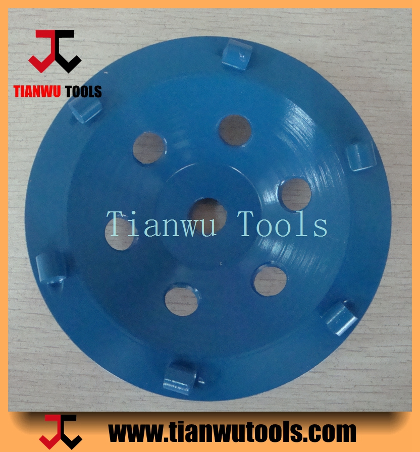 TIANWU pcd diamond segmented cup wheel for floor coating epoxy removal