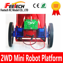 2 layer Line tracing smart car chassis tracing body extended version 2WD two wheel drive smart car Kit