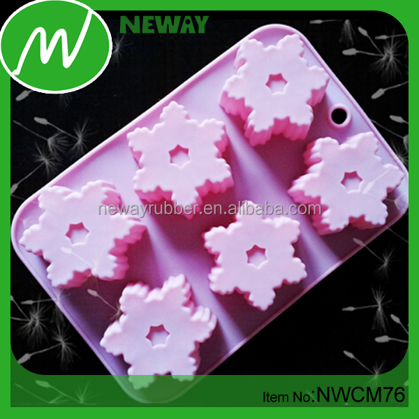 Flexible & Durable Snow Design FDA Silicone Molds