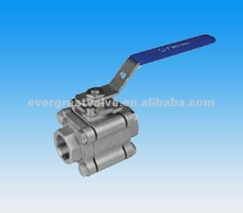 3-PC BALL VALVES, 3000 W.O.G, FULL PORT, ISO 5211 MOUNTING PAD