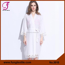 3010 Stock Available Plus Size Solid Cotton Bathrobes, Cotton Bath Robes White
