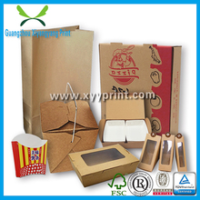 Custom Fast Food Packaging, Healthy Recycle Kraft Paper Food Paper Packaging Box