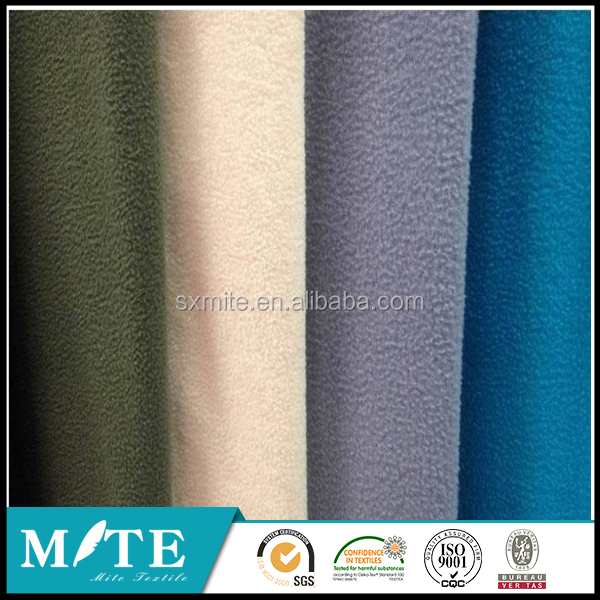 Polyester weft knitting polar fleece warm and pajamas fabric