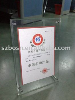 Acrylic Authorization Token,Perspex Plaque & Keepsake,Lucite Banner Stand