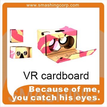 3d glasses type google cardboard 2.0 cardboard vr viewer vr fold works with iPhones and Android devices