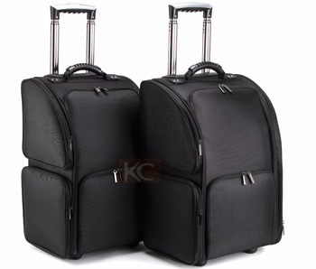 Nylon trolley suitcase for hairdressing / Salon hairdressing case, cosmetic /makeup case