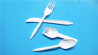 Disposable plastic cutlery sets for hotel,fast food,airline