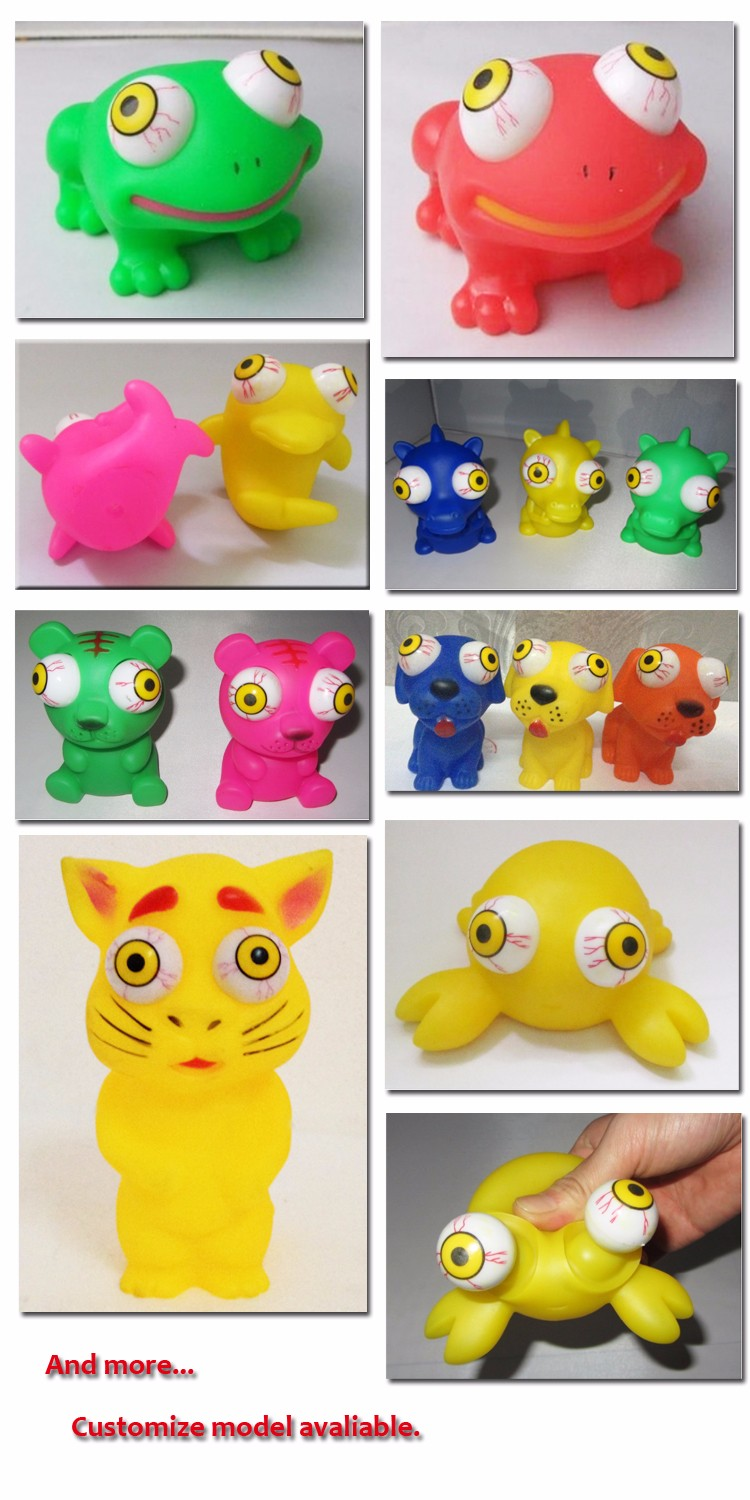Soft Animal Toys; Pop Eye Animal Toy For Baby;eye pop out squeeze toys