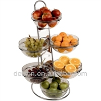 Low price metal Fruit Serving Dish display stand display rack AE-102