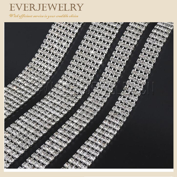 Two rolls and three rolls SS12 rhinestone cup chain silver rhinestone cup chain