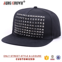 short brim 5 panel snap back cap/small order 5 panels caps/print design 5 panel caps