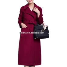 Fashion winter red long trench wool coat for women