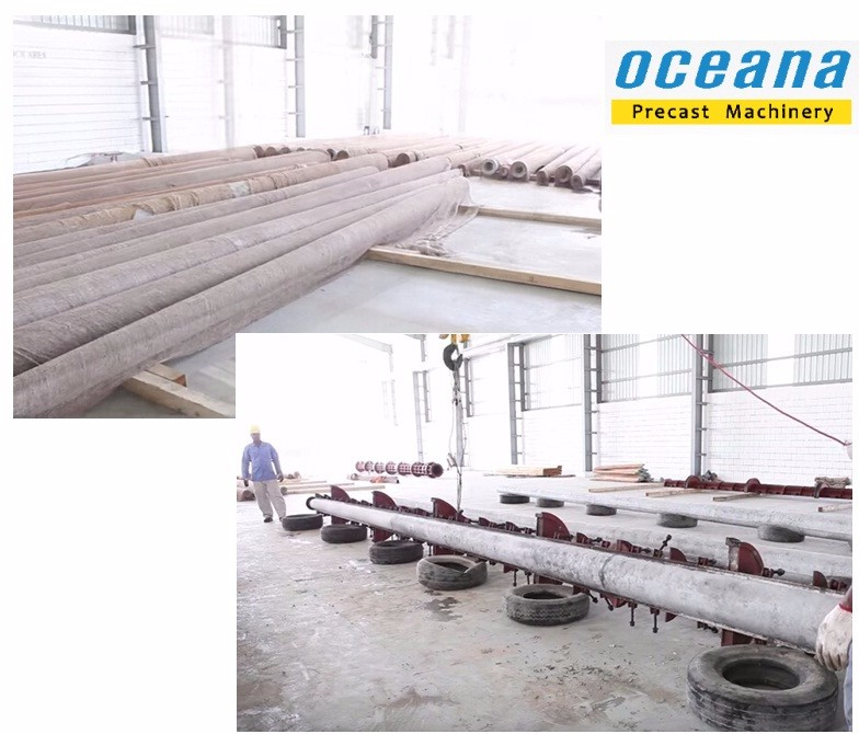 Concrete Pole Making Machine : Electric concrete pole making machine with mold production