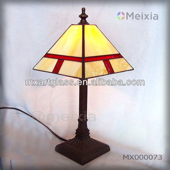 MX000073 china wholesale tiffany style stained glass table lamp for home decoration item