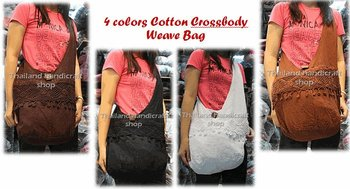 Cotton Weave Hippie Sling HOBO Crossbody Hand Bag