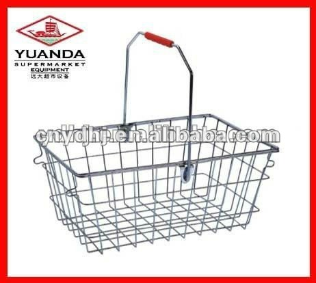 Metal Chrome Shopping Basket YD-0030