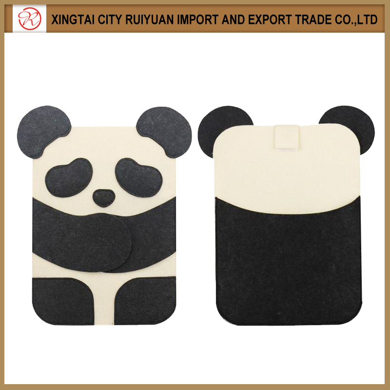 2016 New coming style handmade the panda shape felt computer bag for sale