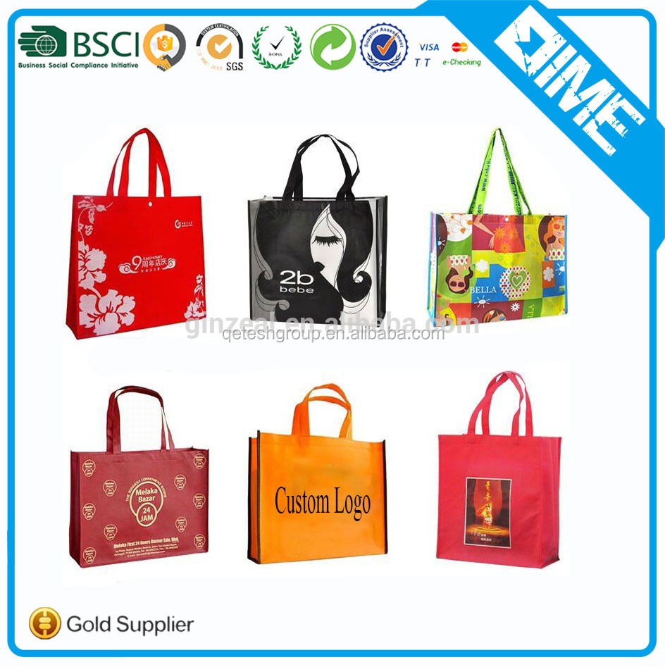 Cheap Wholesale Non Woven Shopping Bag Ladies Bag With Custom Logo Printed