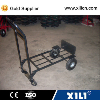 Tool usage foldable hand trolley four wheels HT2009